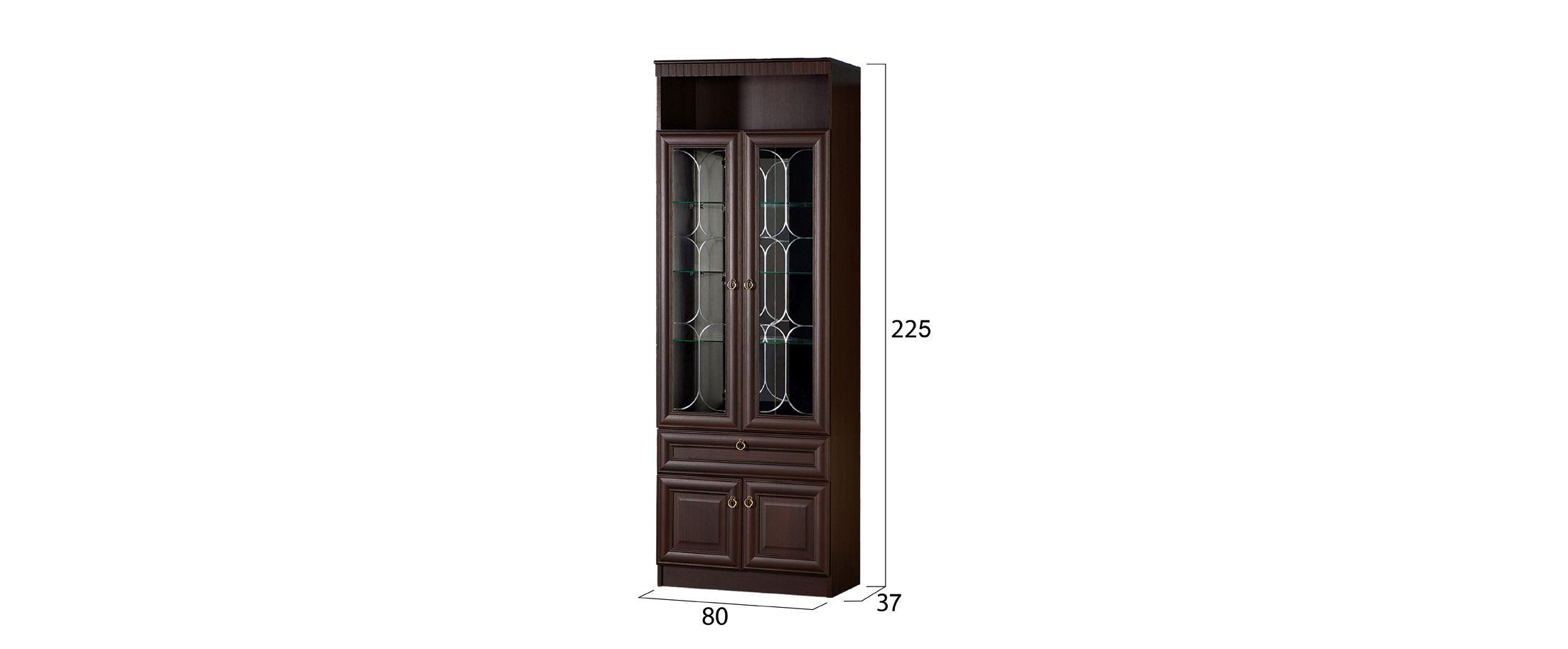 Шкаф для посуды Инна 612 темный Модель 900
