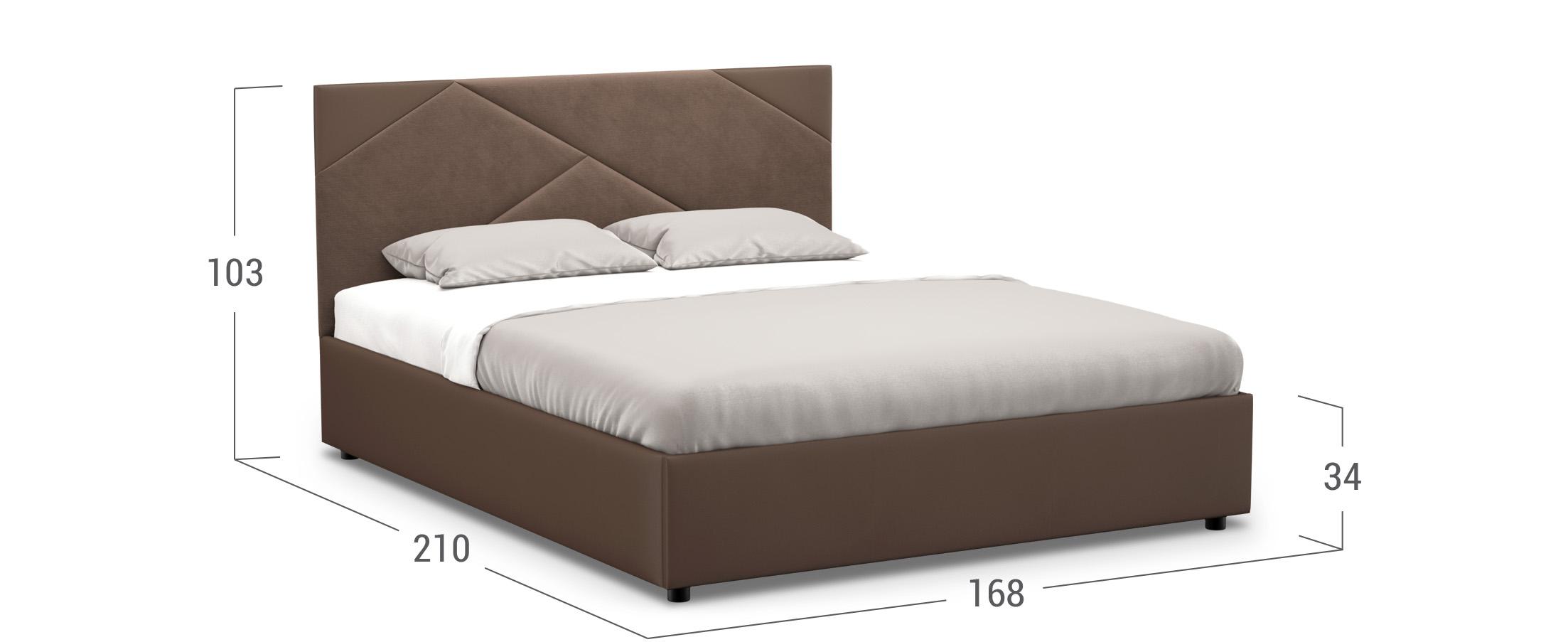 Кровать двуспальная MOON FAMILY 1226 160х200